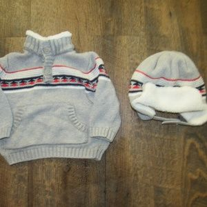 Gymboree sweater and hat boy size 6-12 months